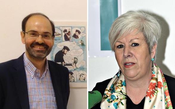José Luis Urraca Casal (izquierda) y Blanca Rosa Gómez Morante (derecha)