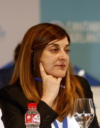 En la imagen, María José Sáenz de Buruaga durante el polémico congreso del PP de 2017 / (C) CANTABRIA DIARIO