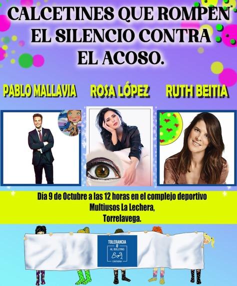 El próximo 9 de octubre, a las 12.00 horas, Calcetines Solidarios contra el acoso escolar en el edificio multiusos 'Sergio García'