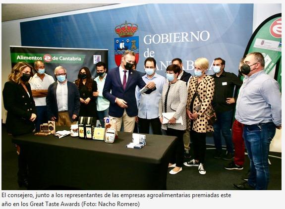 Guillermo Blanco felicita a las empresas agroalimentarias premiadas este año en los Great Taste Awards