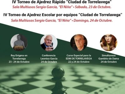 El 'Ciudad de Torrelavega' traerá a la capital del Besaya a Leontxo García, el Rey Enigma, y más novedades